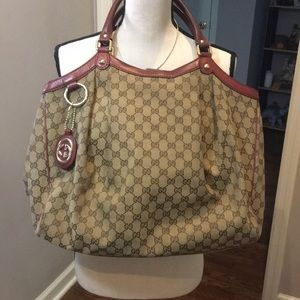 Authentic Gucci Sukey bag with dust bag.  17x 14